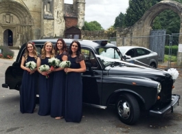 Classic Black London Cab for weddings in Bletchley